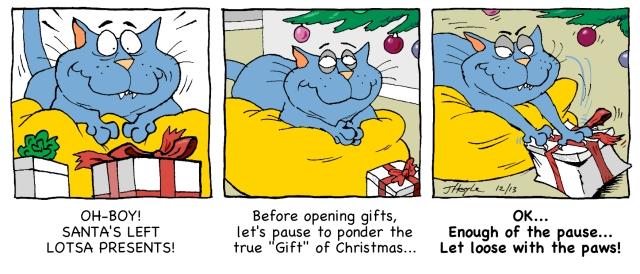 Catnip's Christmas paws